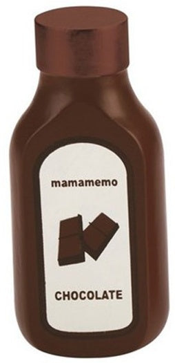 Mamamemo Fles Chocoladesaus Hout 10 Cm