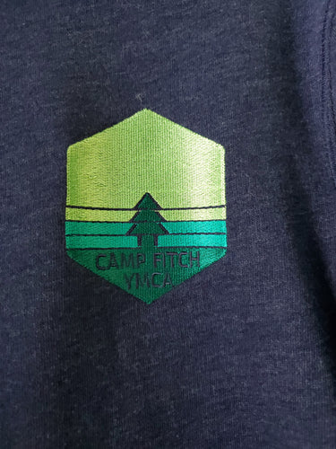 Triangle Tree Embroidered 1/4 Zip