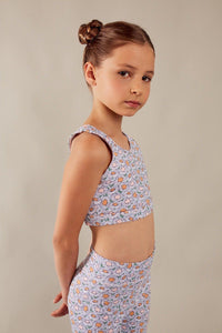 tween girl crop top floral
