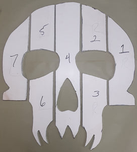 Full Size Project Skull Print to make Templates with.