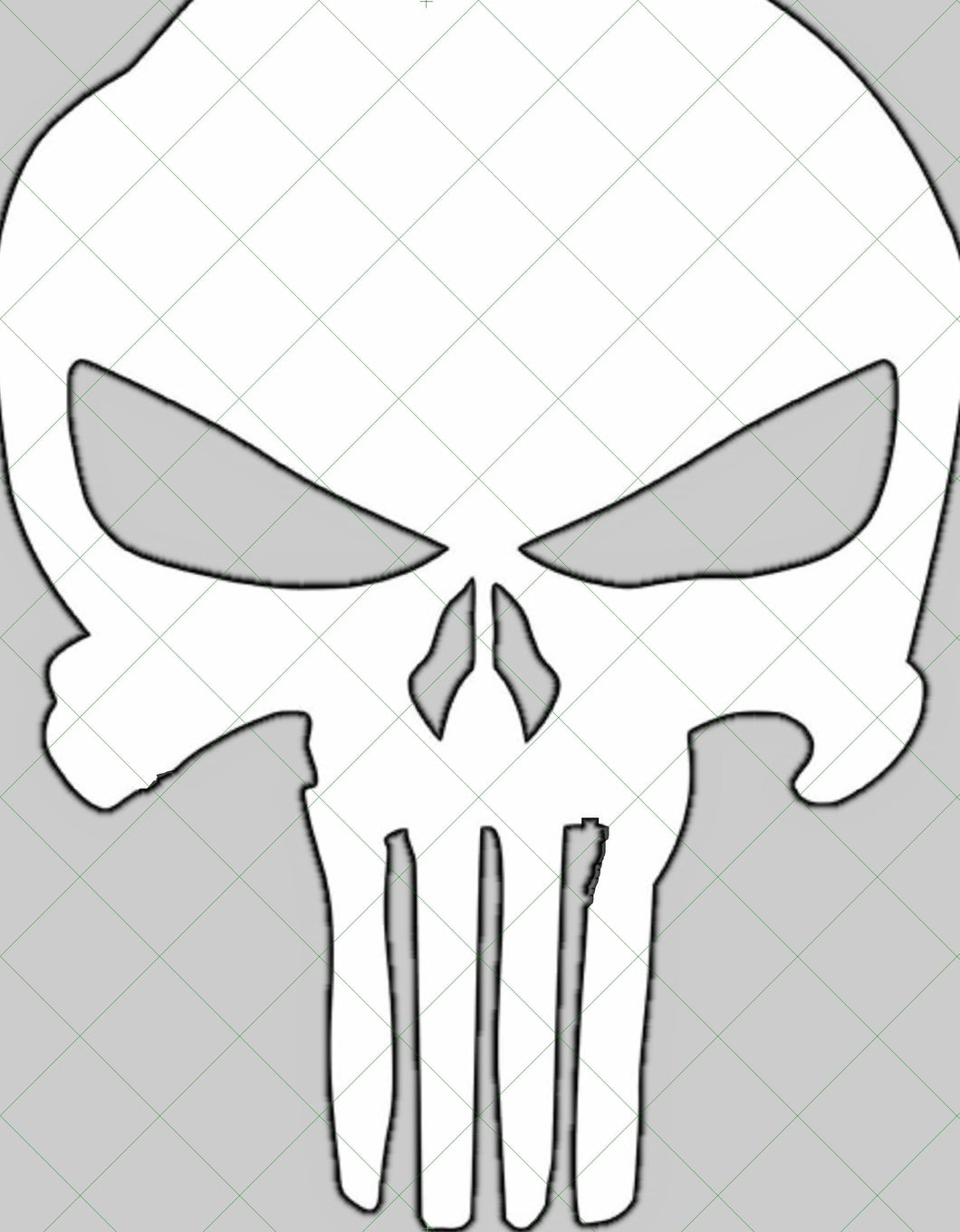 Full Size 24 in x 30 in Punisher Style Template