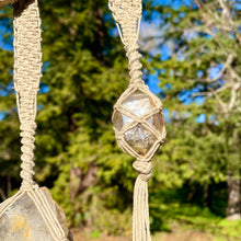 Load image into Gallery viewer, high vibe wall hanging (herkimer diamond)