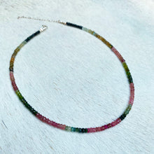 Load image into Gallery viewer, ombre watermelon tourmaline choker