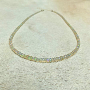 magic opal necklace (faceted)