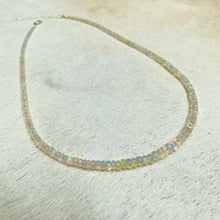 Load image into Gallery viewer, magic opal necklace (faceted)