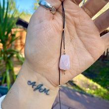 Load image into Gallery viewer, alchemy lariat (rose quartz)
