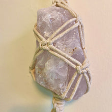 Load image into Gallery viewer, rose quartz wall hanging