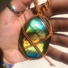 Load image into Gallery viewer, labradorite talisman