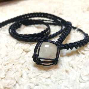 clear quartz talisman
