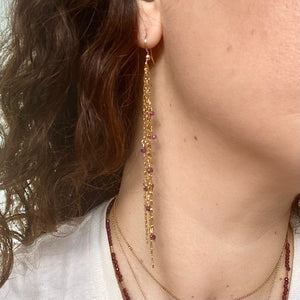 confetti earrings (gold)