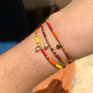 happy little bracelet set (rust)