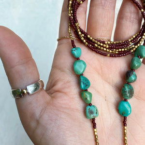 helping hands lariat (turquoise)