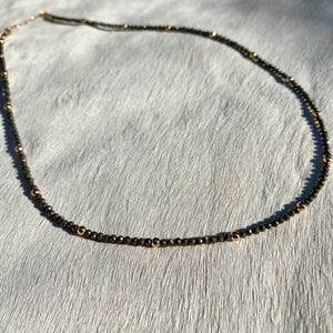 mila necklace (pyrite)
