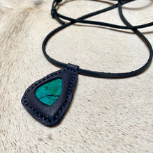 Load image into Gallery viewer, chrysocolla horizon necklace