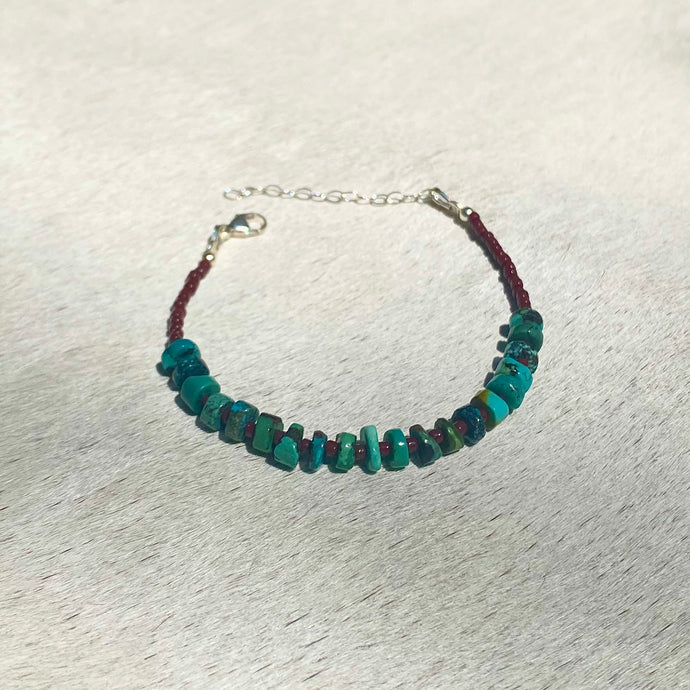turquoise candy bracelet (rust)