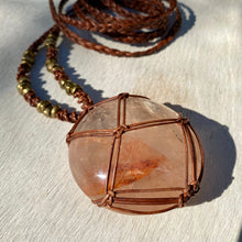 Load image into Gallery viewer, red fire quartz talisman