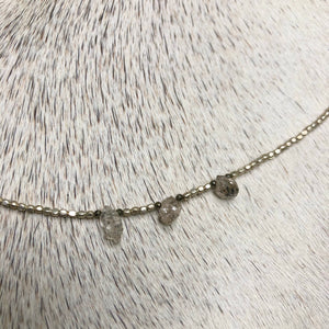 silver clarity necklace
