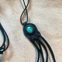 Load image into Gallery viewer, turquoise horizon necklace (black)