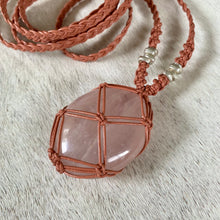 Load image into Gallery viewer, rose quartz talisman