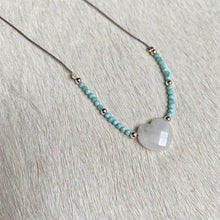Load image into Gallery viewer, moonstone lover necklace (larimer)