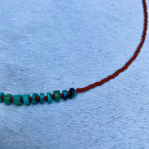 turquoise candy necklace (terra cotta)