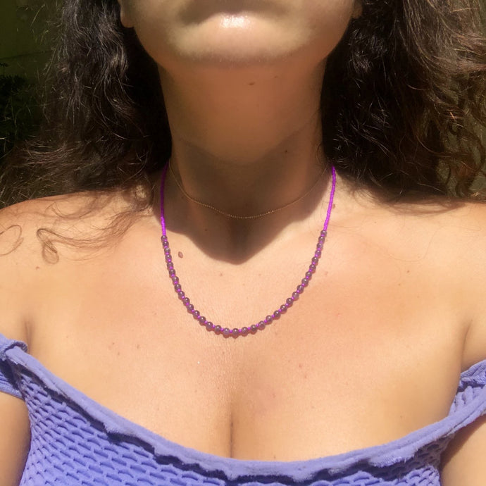 amethyst candy necklace