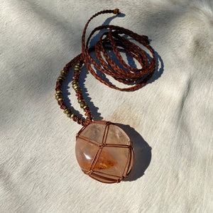 red fire quartz talisman
