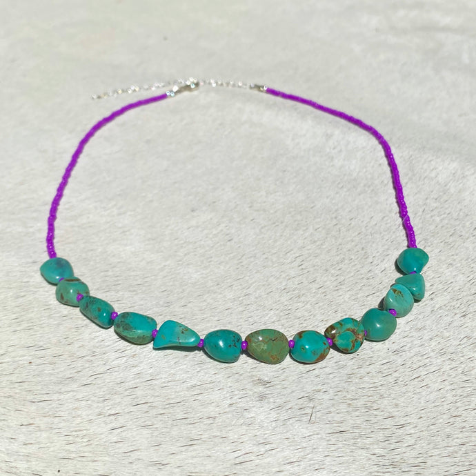 turquoise candy river necklace (fuchsia)