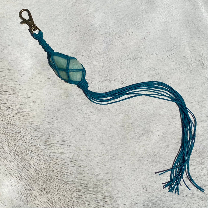 amazonite keychain (blue)