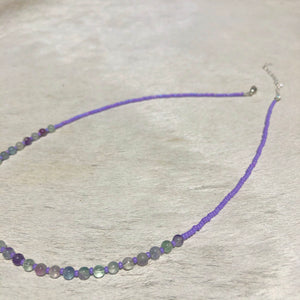 rainbow fluorite candy necklace