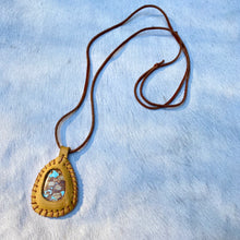 Load image into Gallery viewer, turquoise horizon necklace (tan)
