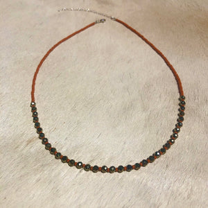 pyrite candy necklace (large)