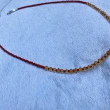 Load image into Gallery viewer, citrine candy necklace (burnt orange)