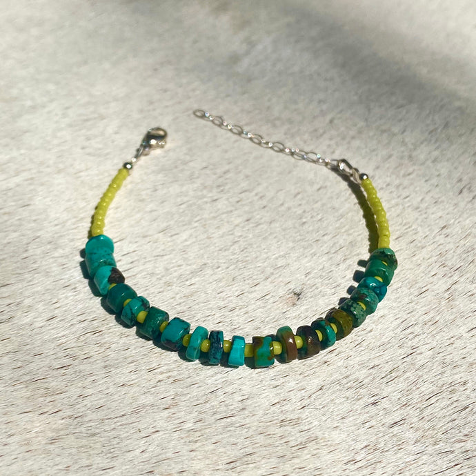 turquoise candy bracelet (lime)