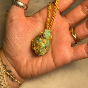 rough turquoise talisman