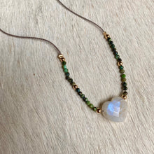 Load image into Gallery viewer, moonstone lover necklace (turquoise)