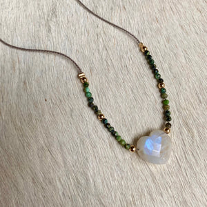 moonstone lover necklace (turquoise)