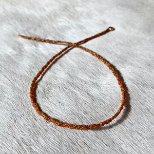 tinsel bracelet (burnt orange)
