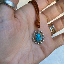 Load image into Gallery viewer, happy trails necklace (turquoise/cognac)