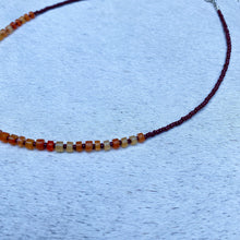 Load image into Gallery viewer, carnelian candy necklace (rust)