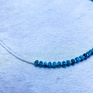 turquoise candy necklace (ivory)
