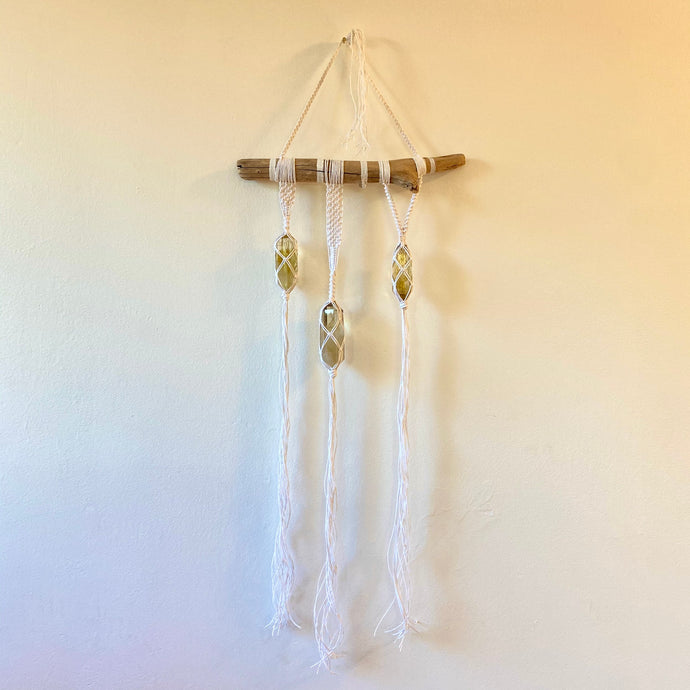 high vibe wall hanging (citrine)