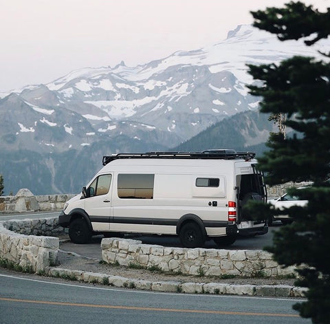 Camper vans give you the freedom to travel and experience spectacular views.