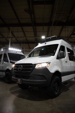 Upfit your van with a roof rack, bumper, ladder, side steps, and more!