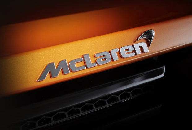 Rear McLaren Badge with Carbon Fiber