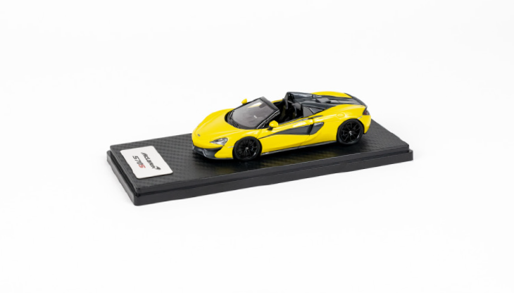 1:43 McLaren 570S Spider in Sicilian Yellow