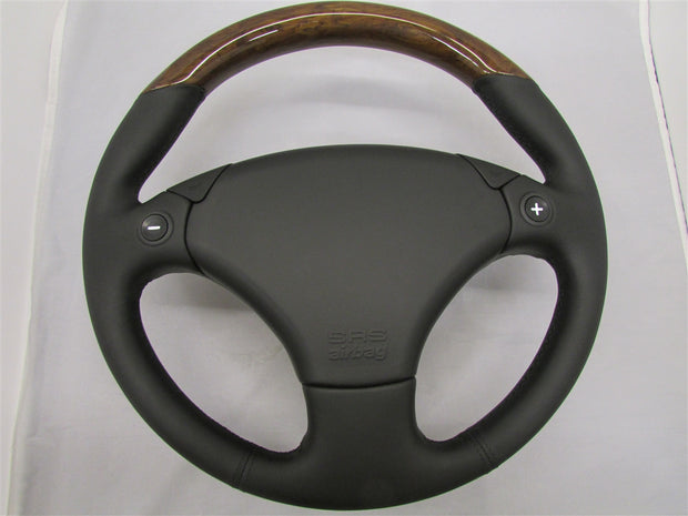 Aston Martin DB7 Steering Wheel (Elm Walnut Black)