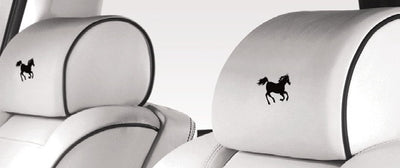 Rolls-Royce Phantom Bespoke Logo Leather Headrest (2 Headrests)