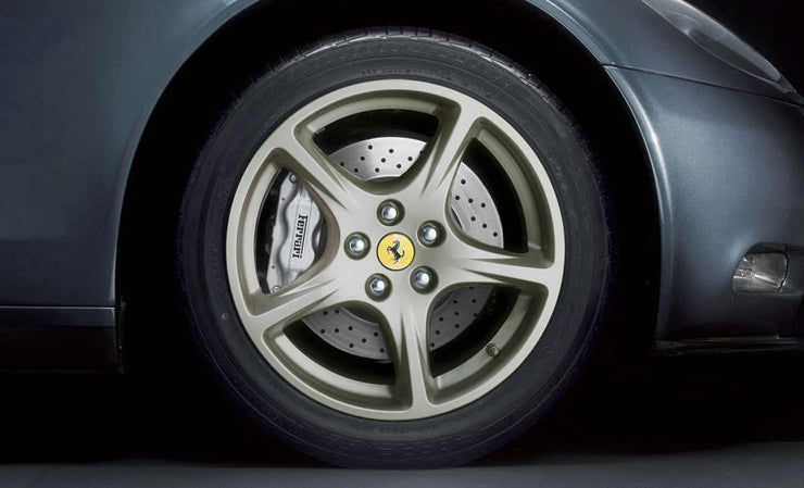 "Ferrari 612 Scaglietti 19"" Wheels, 612 Composite Five-Spoke Wheels, Silver, Sterling, & Ball Polished"