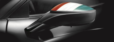 Genuine Ferrari 458 Tricolor Rear View Mirror Kit